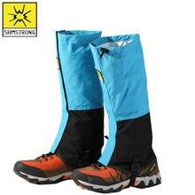 Capa de neve masculina e feminina, capa de sapato de neve ao ar livre, repelente de água, respirável, capa de perna protetora à prova de areia