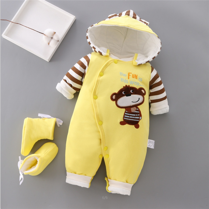 Baby Winter Rompers Newborn Cotton Jumpsuit Thick  Baby Girls Boys Warm Jumpsuit Autumn Infant Wear Kid Climb Clothe | Happy Baby Mama