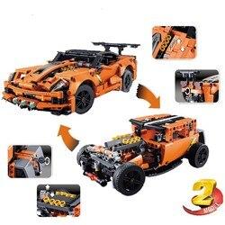 DECOOL 13384 Technic Series 2in1 ZR1 42093 City Building Blocks Bricks Toys For Children Boys Gift