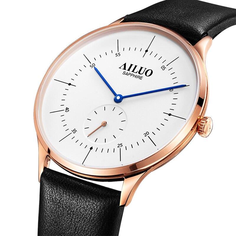 France Luxury Brand AILUO Couple's Watches Japan MIYOTA Quartz Men Wristwatches Ultra-thin Watches Diamond reloj mujer A7607M