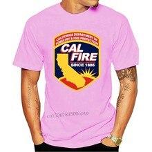 NHRA Cal Fire California od 1988 r. Koszulka 100% bawełna mężczyzna T koszula kobiety topy tee O-neck krótki rękaw śmieszne koszulki