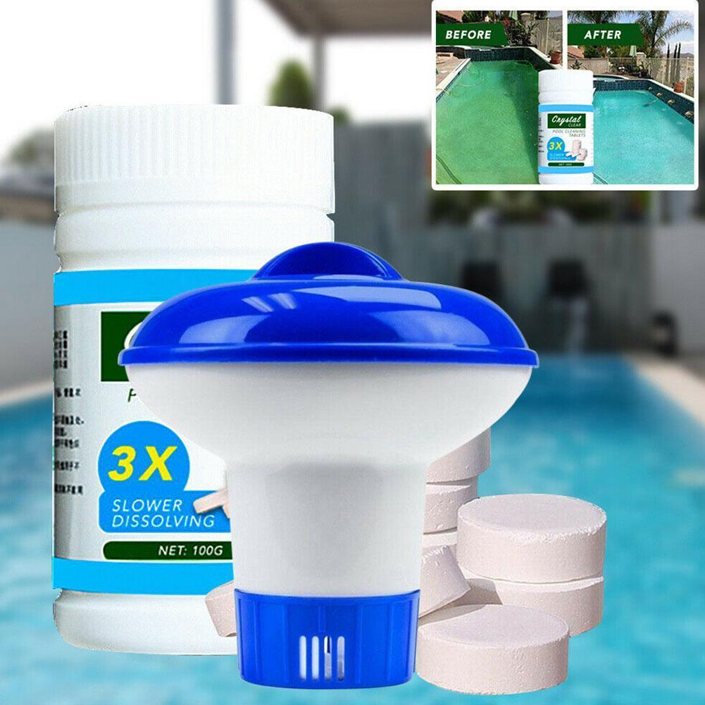 Automatic Dosing Pool Cleaner Effervescent Tablet Combination Tablet Dosing Floating Effervescent H9Q6 1
