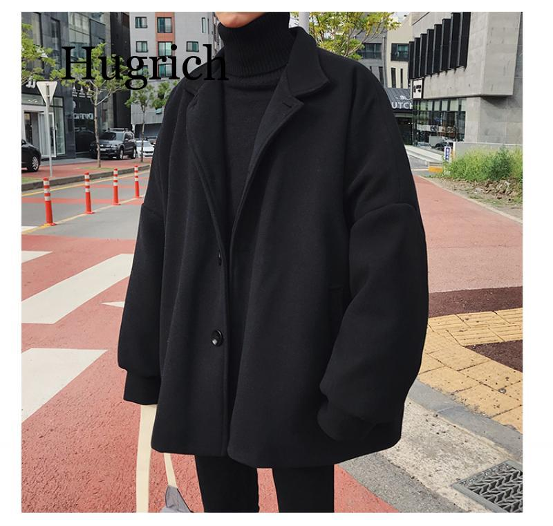2020 Korean Winter Man Fashion Tide Turn Down Collar Bat Sleeve Loose Casual Black Khaki Color Woolen Blends Overcoat Coat S 3xl Buy At The Price Of 49 99 In Aliexpress Com Imall Com