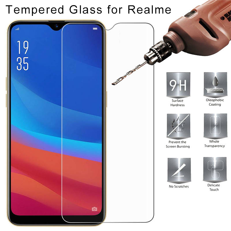 Toughed Flim Screen Protector for Realme 5 Pro U1 Q 9H HD Tempered Glass for Realme X2 Pro XT X Transparent Protective Glass