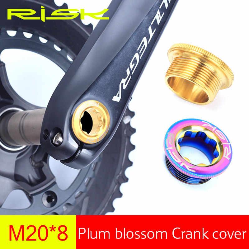 2pcs Aluminum Alloy Bicycle Cycling Crank Cover Fixing Crankset Bolts Threads