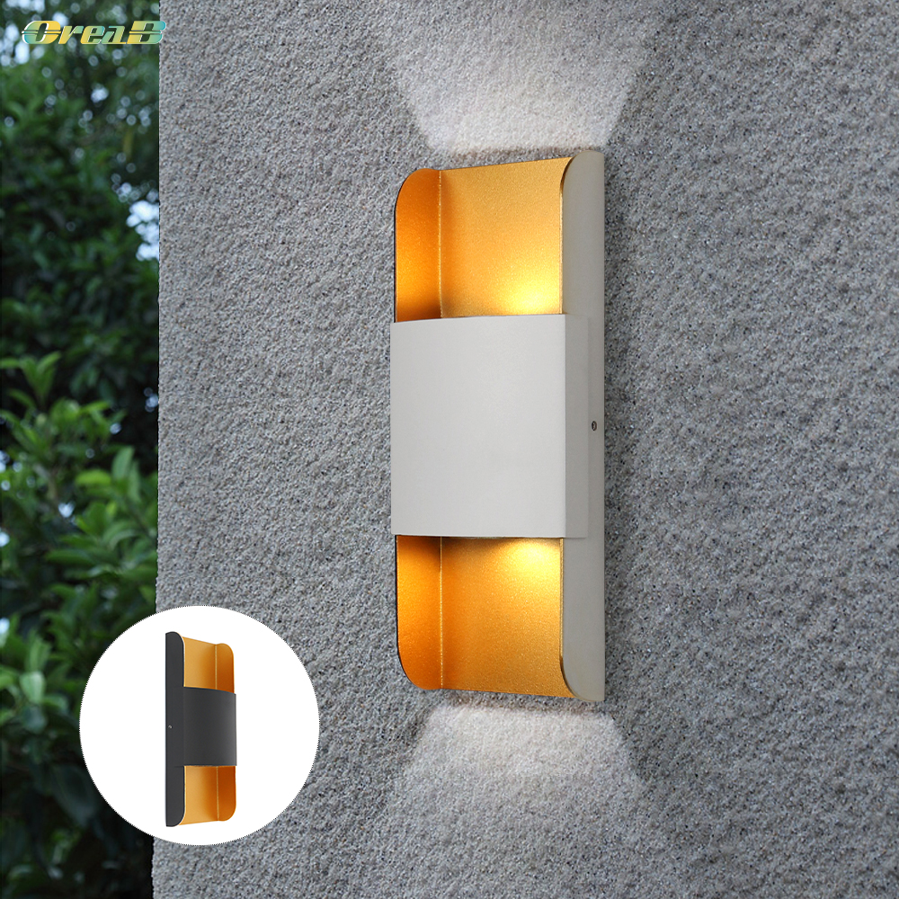 10w waterproof patio boundary wall light double side lighting cob exterior ip65 led indoor outdoor wall sconce lamp european
