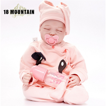 Baby Reborn Real Menina Soft Silicone Bebe Reborn Baby Dolls Birthday Gifts Fashion Stuffed Doll Toys With Cute Clothes warkings reborn