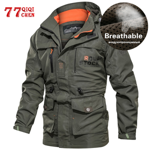 Mens Tactical Jacket Autumn Quick Dry Military Coat Male Multi Pockets Hooded Windbreaker Waterproof jacket Plus size 6XL(China)