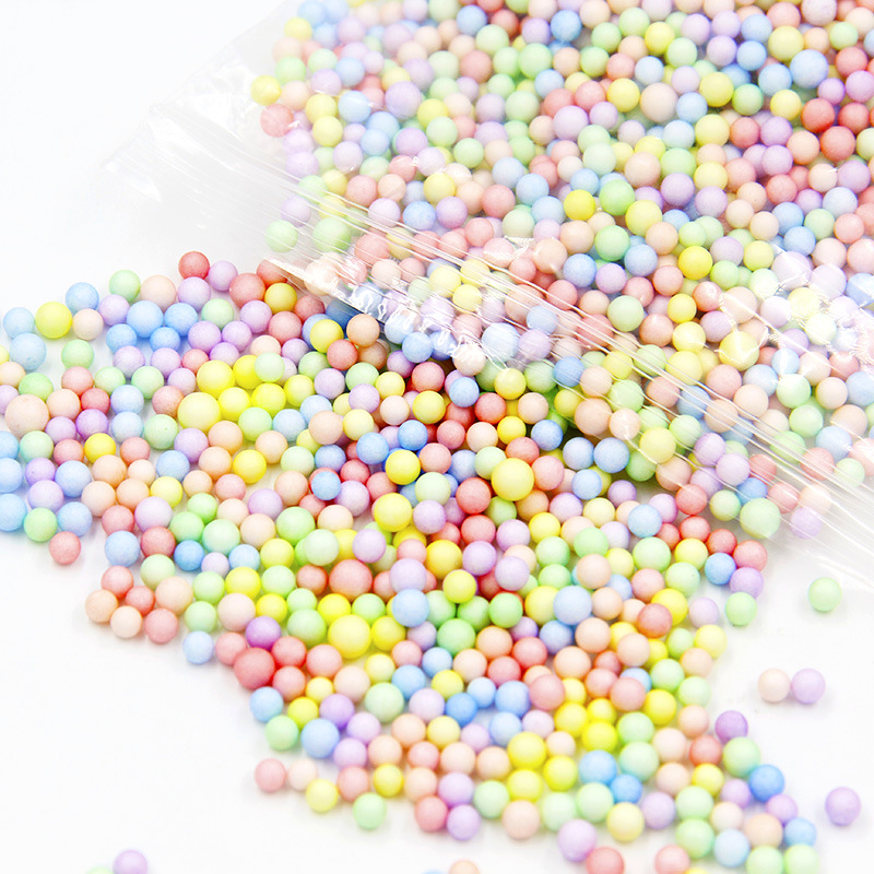 Foam Beads Fluffy Slime Additives Accessories Filler DIY Lizun Toys Antistress Tiny Foam Balls Particles Glue For Slime Supplies