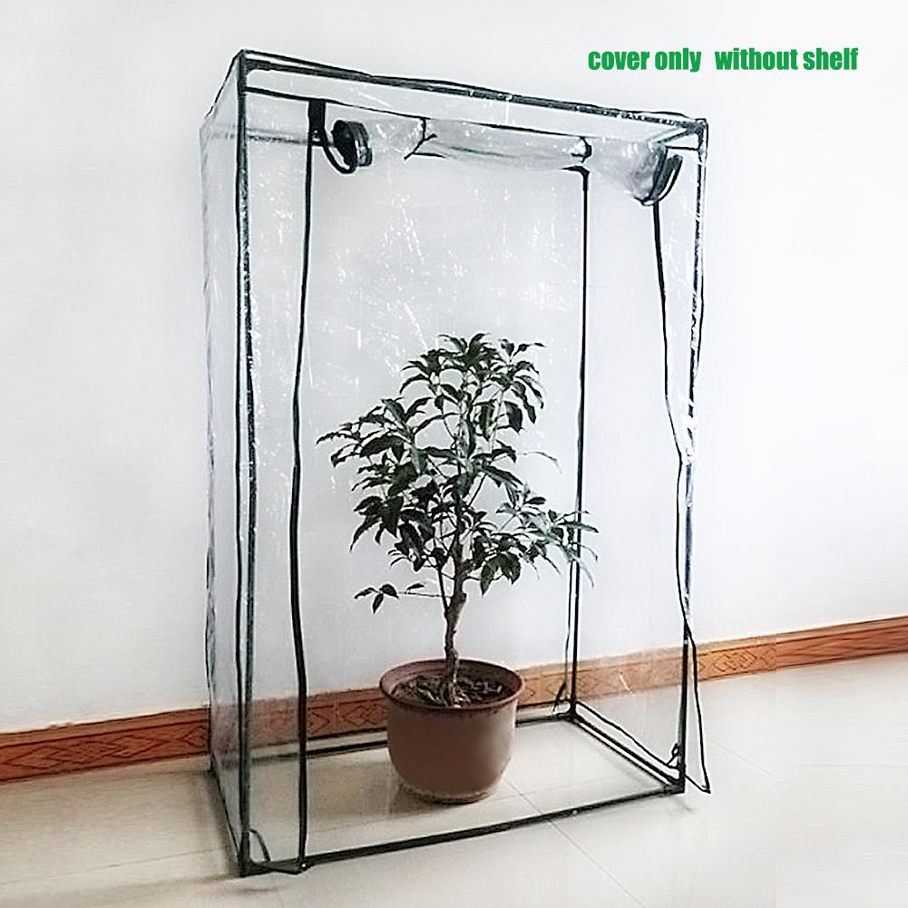 PVC Corrosion-resistant Plant Cover Plant Greenhouse Cover Waterproof Anti-UV Garden Plants Flowers Tent (without Iron Stand)