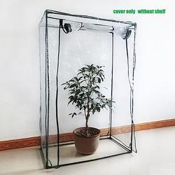Tampa PVC Corrosão-resistente Cobertura Vegetal Da Planta com efeito de Estufa Plantas Flores Do Jardim À Prova D' Água Anti-UV Tenda (sem Suporte De Ferro)
