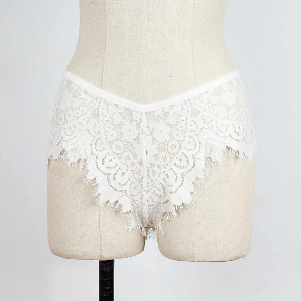 Sexy renda de cintura alta roupa interior verão mulheres sexy rendas lingerie cuecas calcinha tanga g-string cintura alta respirável cueca