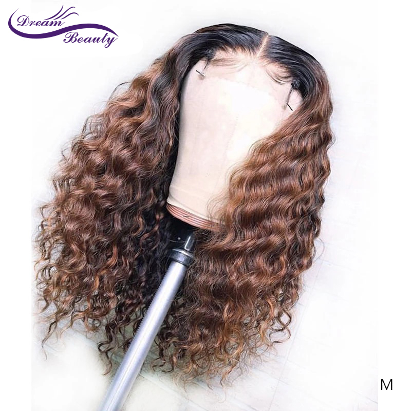 13*6 Lace Front Wigs Water Wave Dream Beauty Medium Ratio180density Pre-plucked Glueless Remy Hair Wig