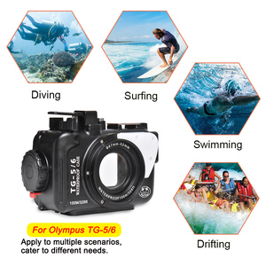 Image 3 - Underwater Camera Case For Olympus TG5 TG6 Waterproof Aluminum alloy Protective Cover with Vacuum System Big Promotion 1 sets