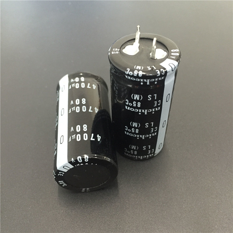 2pcs 4700uF 80V NICHICON LS Series 25x50mm High Quality 80V4700uF Snap-in PSU Aluminum Electrolytic Capacitor