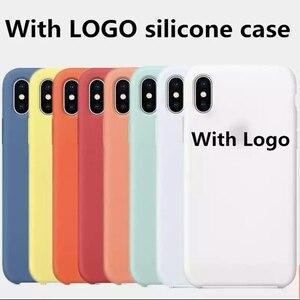 Чехол с логотипом для iphone 12 11 Pro XS X MAX XR 6S 6 Plus, чехол для телефона Apple iphone 7 8 plus X 10, Официальный силиконовый чехол