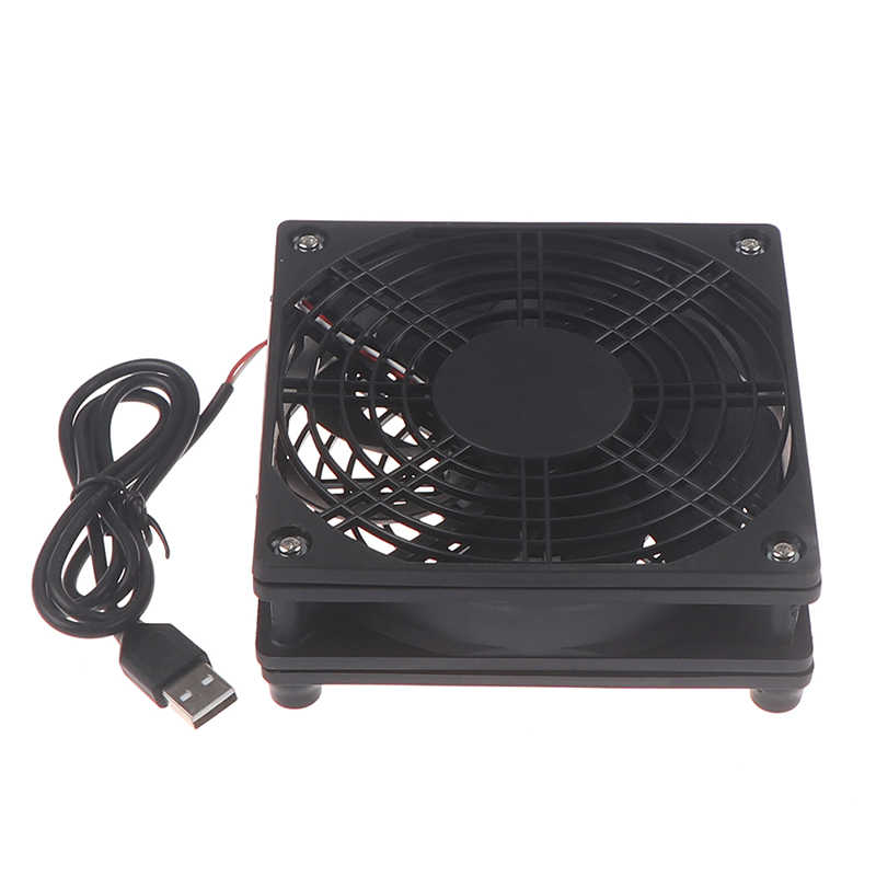 Baru Router Fan DIY PC Cooler TV Box Nirkabel Pendingin 5V USB Power 120Mm Fan