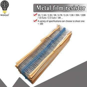 100pcs 1/4W 1R~22M 1% Metal film resistor 100R 220R 1K 1.5K 2.2K 4.7K 10K 22K 47K 100K 100 220 1K5 2K2 4K7 ohm resistance - discount item  7% OFF Passive Components
