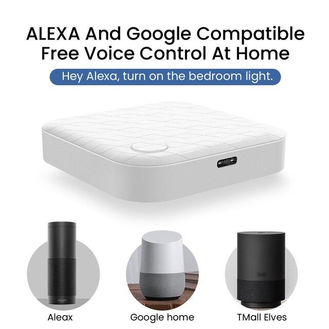 Hub inteligente Tuya Zigbee con Wifi, Control remoto por voz para casa, puente de Control inteligente, Centor, funciona con la aplicación para hogares Alexa y Google 3