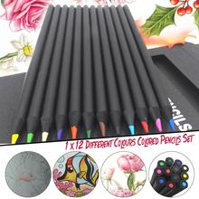 12 Pcs/Set Luxury Colorful Pencils Kawaii Wooden Pencils Artist Painting Drawing Oil Pencil School Office Supplies Stationery chungwa colorful wooden pencil set multicolored 36 pcs