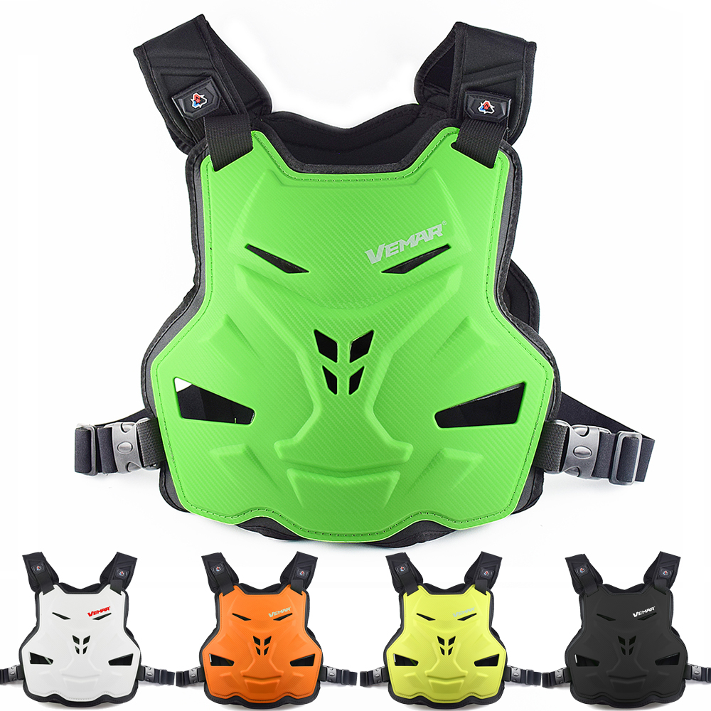 VEMAR Motorcycle Armor Vest Motorcycle Protection Motorbike Chest Back Protector Armor Motocross Racing Vest Protective Gear Yellow