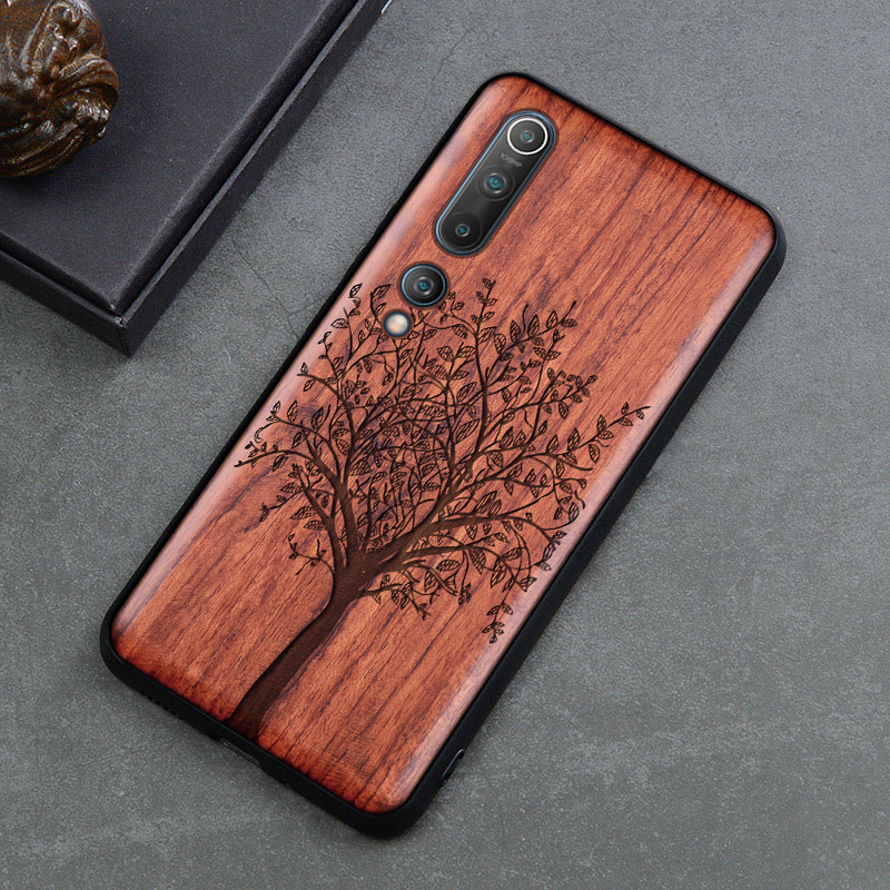 Wood Phone Case For Xiaomi redmi note 8 pro Original BOOGIC Wood TPU Cover For Xiaomi mi 10 9 9t pro Ultra Thin Wooden Coque