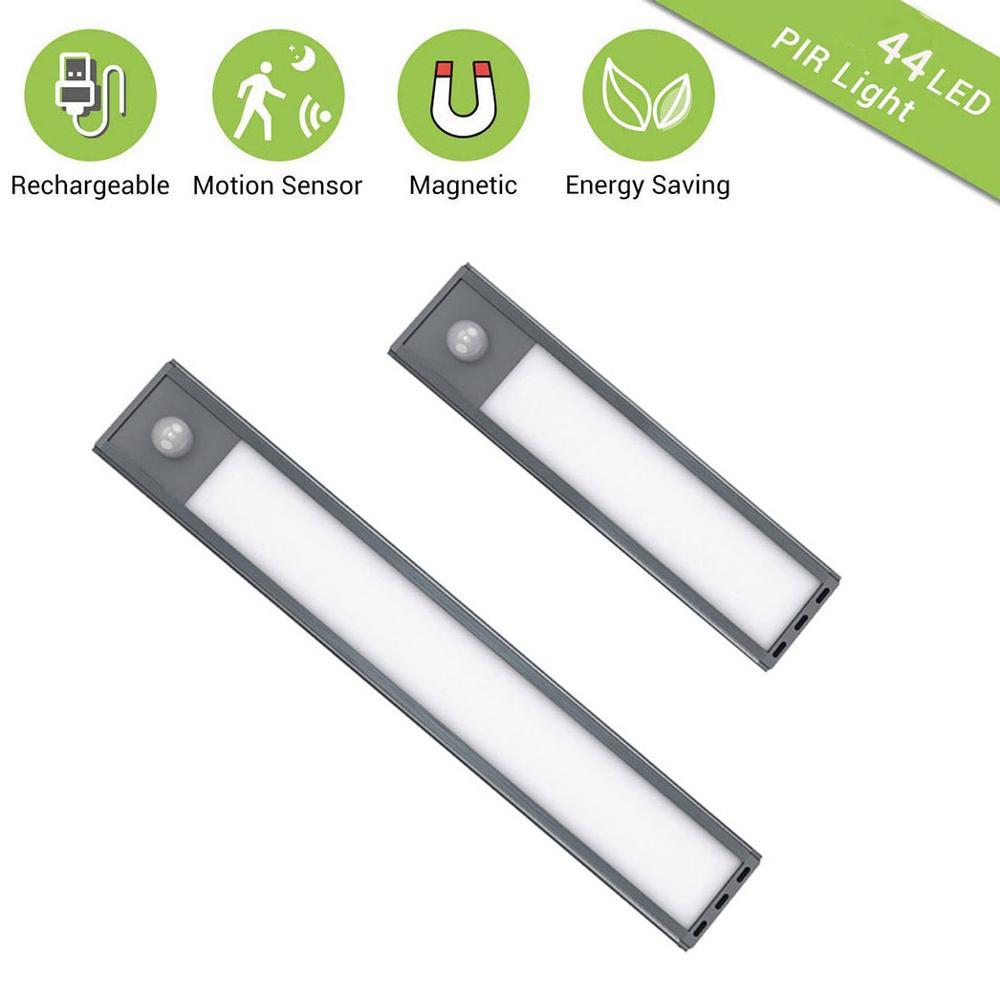 20/30CM LED Closet Light USB Rechargeable Motion Sensor Under Cabinet Lights For Wardrobe Vanity Mirror Kitchen Night Light