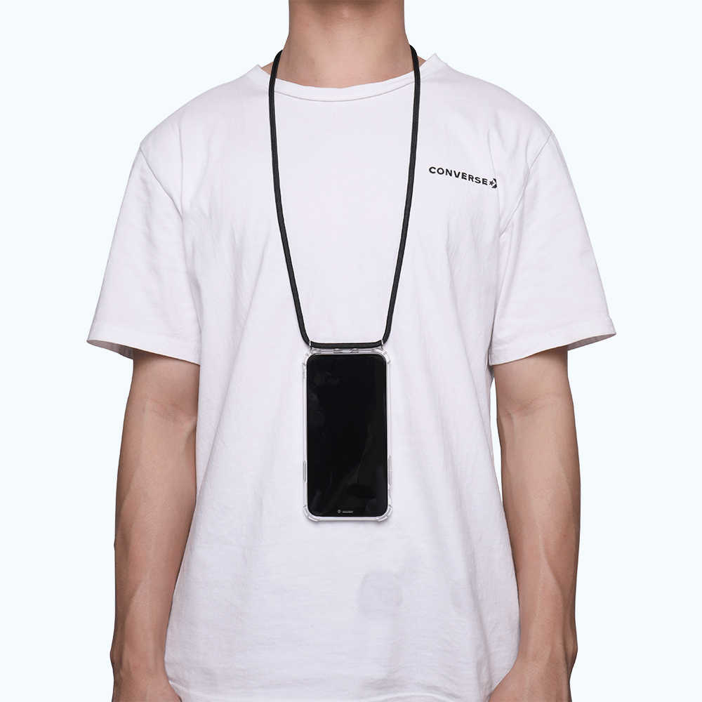 Dây Đeo Dây Chuyền Trong Suốt Ốp Lưng Điện Thoại Iphone 11 Pro XS Max XR X 7 8 6 6 S 6 S Plus mang Theo Vòng Cổ Dây Clear Cover Trường Hợp