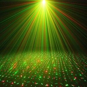 Image 5 - LED Laser Proiettore Lazer Luce Della Discoteca del Dj a comando Vocale di Natale Del Partito di Club Effetto di Fase di Illuminazione Della Lampada Decorazioni per la casa AC110V 220V