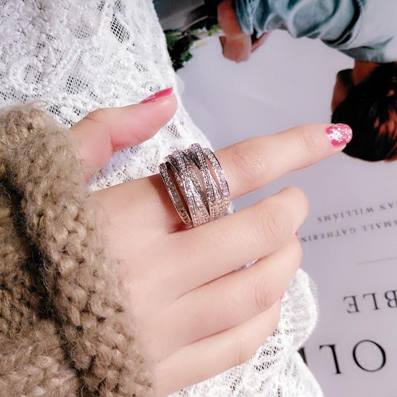 S925 Sterling Silver VVS1 2 Carats Diamond Rings for Women 925 Anillos Bizuteria Gemstone Silver 925 Jewelry Diamond Ring female