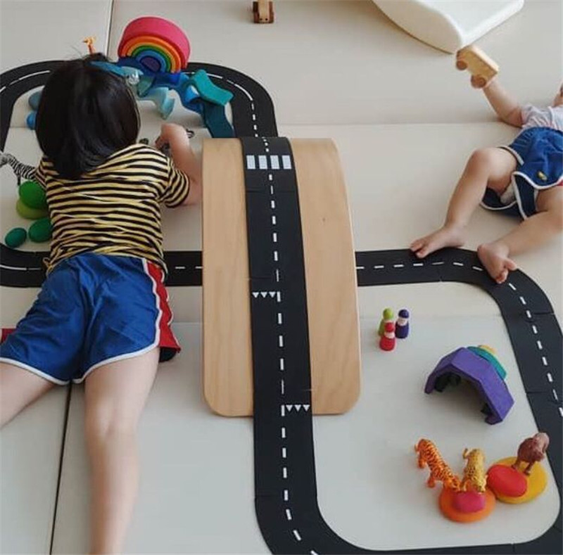 DIY PVC  Puzzles Track Play Set Car Track Puzzle Toys Child Splicing Path Road Traffic Fun Educational Toys Children Boys Gifts