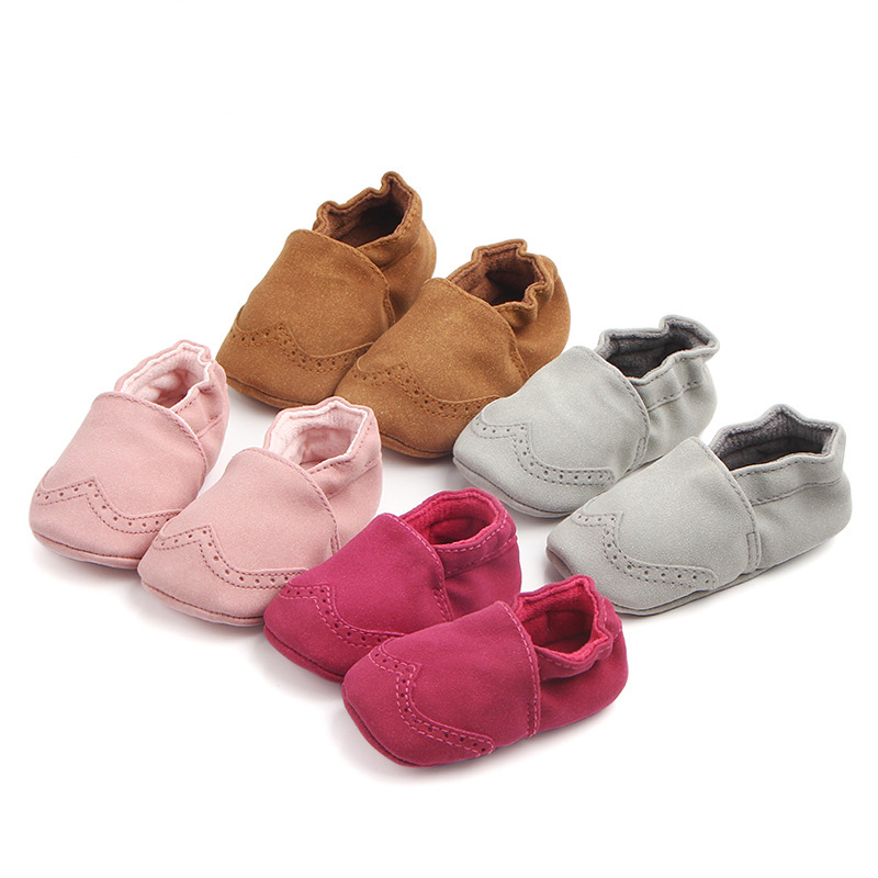 Nubuck Leather Baby Shoes Toddler Infant Baby Girl Boy Soft Sole First Walker Baby Moccasins Shoes For 0-18M F162