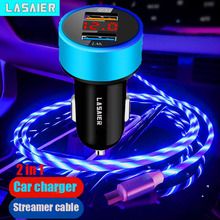 Usb-Phone-Charger Light-Cable QC3.0 Lasaier with Flowing 1m for Led-Display