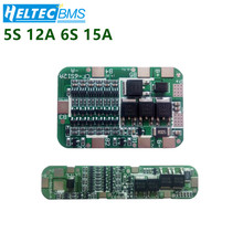 5S 12A/6S15A 18V 24V Lithium Protection Board For 5/6 Pack 18650 PCB BMS Li-ion Battery Cell Module a50l 0001 0326 20a600v 6 cell ipm module