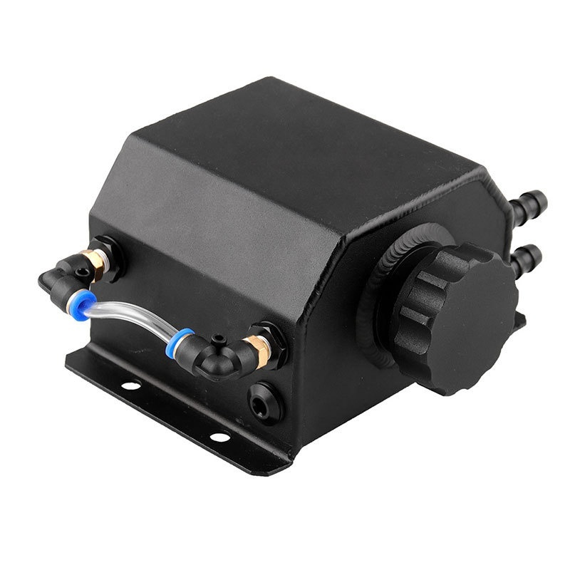 1L noir voiture aluminium radiateur liquide de refroidissement trop plein bouteille récupération réservoir d'eau réservoir huile pot respirant