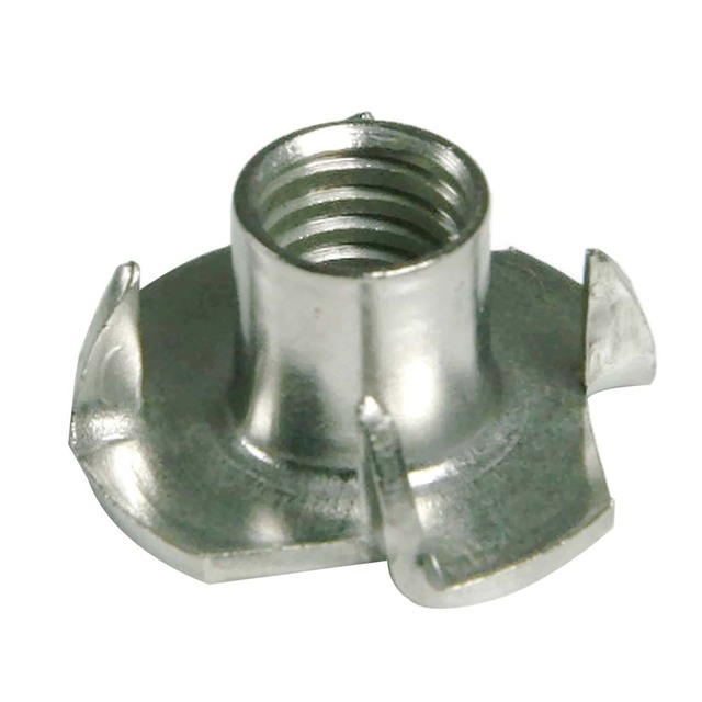 304 Stainless Steel T Nut, 4 Prongs T Nut M6  9x19