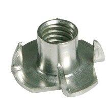 304 الفولاذ المقاوم للصدأ T الجوز ، 4 شوكات T الجوز M6 9x19