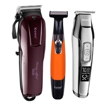 Kemei Professional Electric Hair Clipper Rechargeable Cordless Trimmer Beard Shaver Cutting Machine Cutter Barber