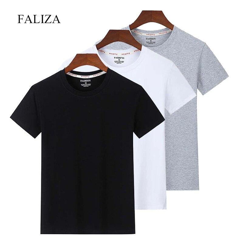 3 шт./лот, одноцветные мужские футболки, 100% хлопок, Повседневная футболка с коротким рукавом, Мужская футболка высокого качества, летняя футб...