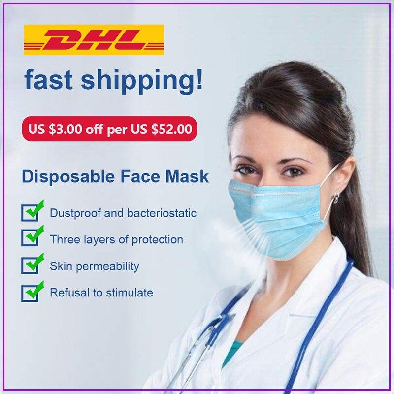 Disposable Anti Dust Mask Face Mask Mascarillas Mascherine Mouth Respirator Ffp3 Maska Test N95 Mondkapjes Boca Mundschutz Maske