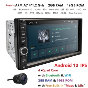 Image 2 - 2019 Android10.0 2DIN evrensel araba NO DVD OYNATICI otomobil radyosu dört çekirdekli 7 inç GPS Stereo ses kafa ünitesi destek DAB DVR OBD BT
