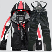 2020 NEW Men Warm Snowboarding Suits Men Winter Ski Suit Male Waterproof Breathable Snow Jacket +Pant Ski Sets set de snowboard