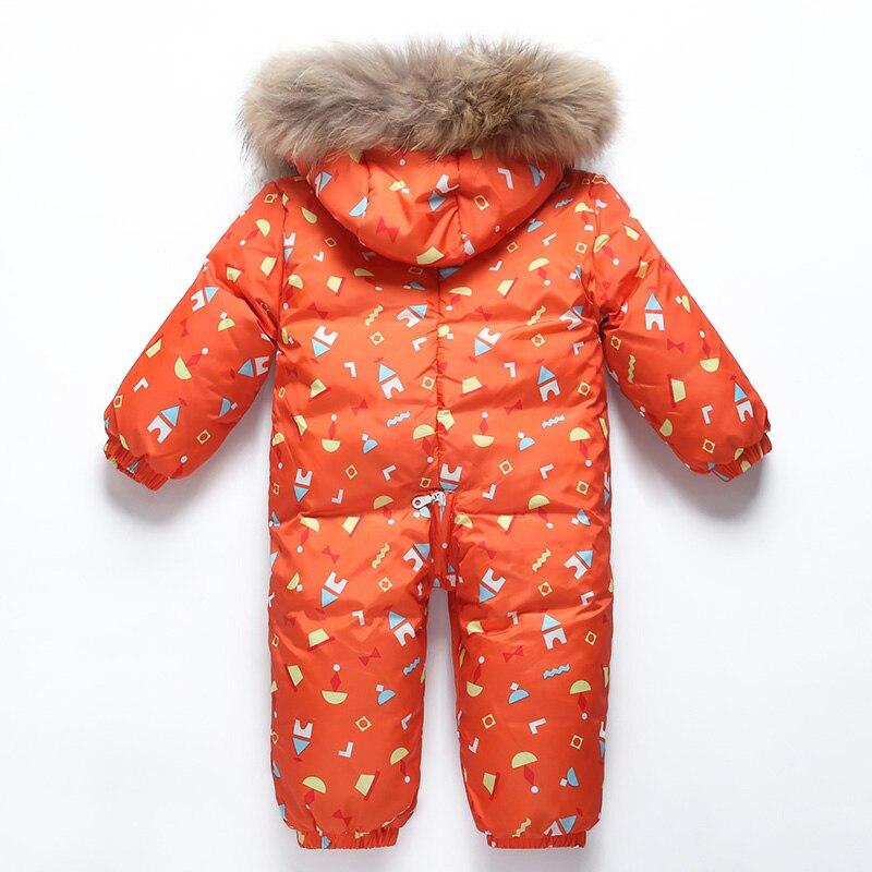 Bébé hiver doudoune garçons conjoints doudoune filles coupe-vent ski chaud costume enfants à capuche épais manteau bébé hiver vêtements - 4
