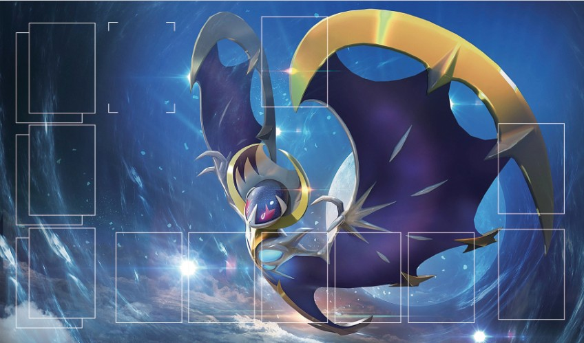 Takara Tomy PTCG Accessories Pokemon Card Game Table Playmate Sun MOON 6Lunala Toys For Children
