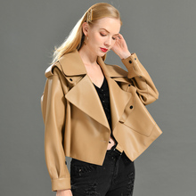 Echtes Leder Jacke frauen echt sheepshin leder mantel 2019 frühling neue mode echt leder jacke
