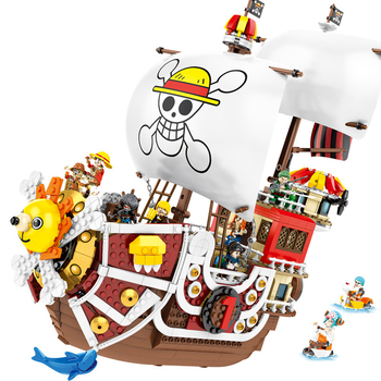 2020 NEW ONE PIECE Monkey D. Luffy Thousand Sunny Pirate Ship Building Blocks Model Sets Bricks Classic For Children Toys Gift 1