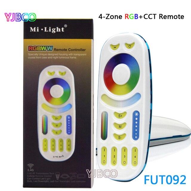 Miboxer FUT092 2.4Ghz RGBWW 4 zone grubu kontrol maç RF RGB + CCT uzaktan kumanda Miboxer led RGB + CCT lamba serisi