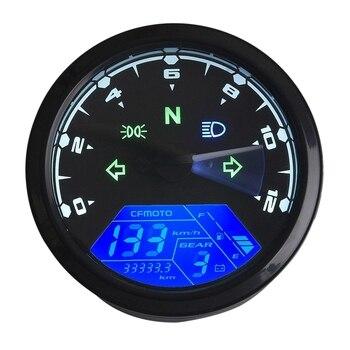 Motorcycle 12000Rmp Lcd Digital Odometer Speedometer Tachometer 1/2/4 Cylinder