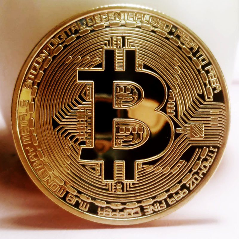 BITCoin Art Collection Gold Plated Physical Bitcoins Bitcoin BTC with Case Gift Physical Metal Antique Imitation Silver Coins-2