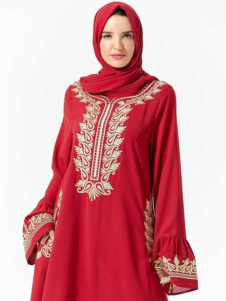 Muslim Evening Dress Moroccan Style Vestidos Musulmanes Turkish Abayas Robe Islamique Chic Dubai Dresses Musulman (No Scarf)